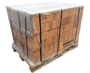 Schamottstein NF2 - 250x124x64mm Palette | PUR Schamotte | Schamotte-Shop.de