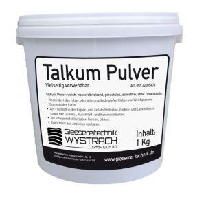 Talkum Pulver 1kg | Rohstoffe | Giessereitechnik Wystrach | Schamotte-Shop.de
