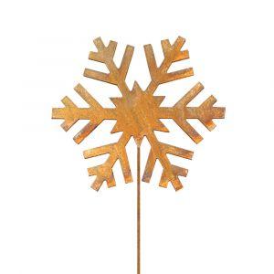Weihnachtsdeko Trend für drinnen und draußen | Schneeflocke Advent | Edelrostoptik