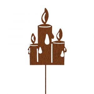 Weihnachtsdeko Trend für drinnen und draußen | Kerzen Weihnacht | Edelrostoptik