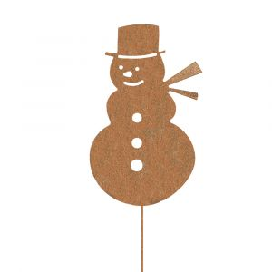 Weihnachtsdeko Trend für drinnen und draußen | Schneemann Weihnacht | Edelrostoptik