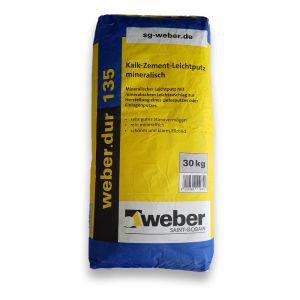 Weber.dur 135 Ofenputz - Leichtputz mineralisch - Körnung 0-1mm - 30kg | günstig kaufen | Schamotte-Shop.de