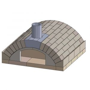 Pizzaofen Bausatz Merano Basic | Frontansicht | PUR Schamotte | Schamotte-Shop.de