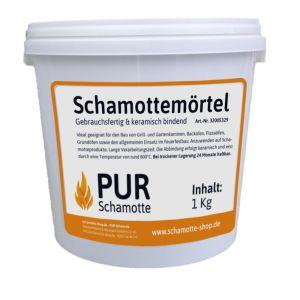 Schamottemörtel 1kg Eimer | PUR Schamotte | Schamotte-Shop.de
