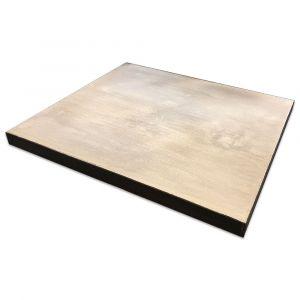 Basisplatte 1350x1150x80mm | passend für Pizzaofen Bausatz Merano Basic & Merano Premium| Frontansicht Logo | PUR Schamotte | Schamotte-Shop.de