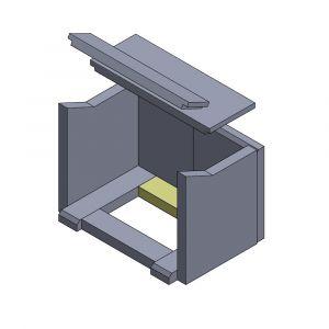 Bodenstein hinten/vorne 260x64x30mm (Schamotte)