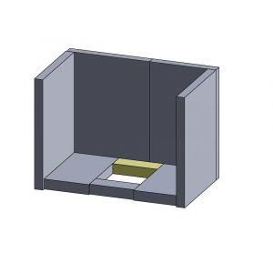 Bodenstein hinten/vorne 135x50x30mm (Vermiculite)
