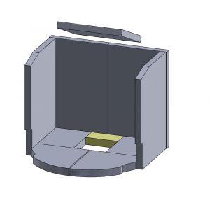 Bodenstein hinten 135x65x30mm (Schamotte)