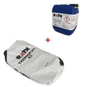 Chemisch Binder Thermoflex K2 (als Kanister 6 KG) Anmachflüssigkeit + Thermoflex K2 Pulver Sack 15 KG| 1000°C | schamotte-shop.de