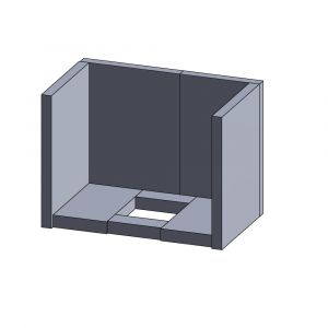 Feuerraumauskleidung 8-teilig (Vermiculite) | Justus Viking B** | Vermiculite-Shop.de
