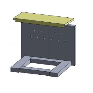 Heizgasumlenkplatte 380x180x25mm (Vermiculite)