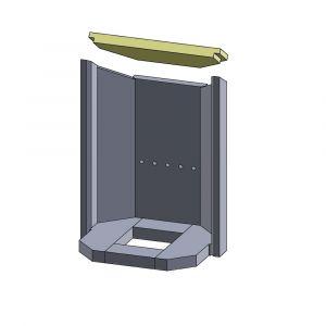 Heizgasumlenkplatte Justus P50-5 A + B** | Feuerraumauskleidung | Schamotte-Shop.de