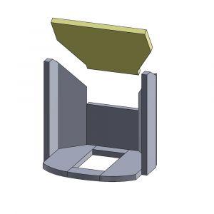 Heizgasumlenkplatte 433x320x25mm (Vermiculite)