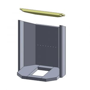 Heizgasumlenkplatte 460x190x25mm (Vermiculite)
