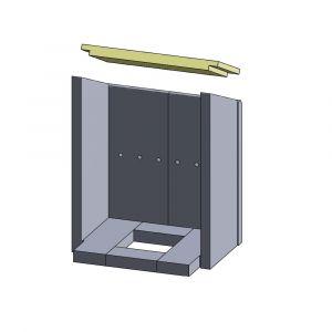 Heizgasumlenkplatte 360x165x25mm (Vermiculite)