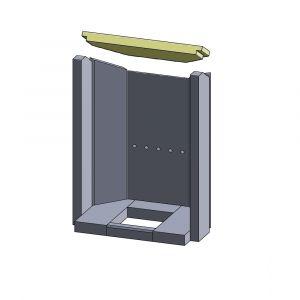 Heizgasumlenkplatte 350x159x25mm (Vermiculite)