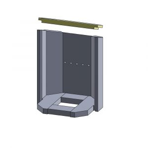 Heizgasumlenkplatte 350x165x25mm Vermiculite | Justus Usedom 5** | Schamotte-Shop.de