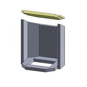 Heizgasumlenkplatte 390x280x25mm (Vermiculite) | Justus Usedom 7** | Schamotte-Shop.dem