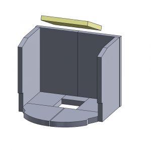 Heizgasumlenkplatte 270x230x25mm (Vermiculite) | Justus Viking C&D** | Vermiculite-Shop.de