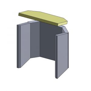 Heizgasumlenkplatte 400x275x25mm (Vermiculite)