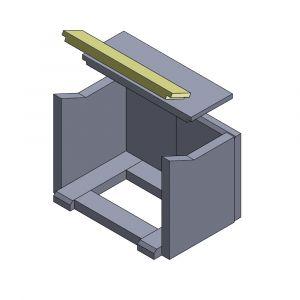 Heizgasumlenkplatte vorne 420x80x25mm (Schamotte)