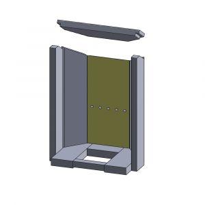 Rückwandstein 402x179x25mm (Vermiculite) | Justus Seeland** | Schamotte-Shop.de