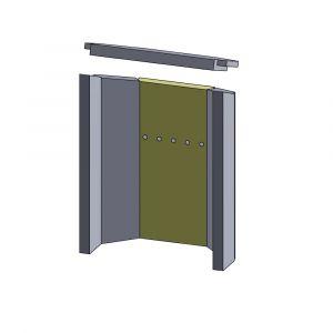Rückwandstein 384x186x25mm (Vermiculite)