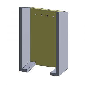 Rückwandstein 505x310x25mm (Vermiculite)