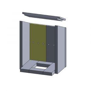Rückwandstein links 375x185x25mm (Vermiculite) | Justus Sylt, Sylt Wärme Plus** | Schamotte-Shop.de