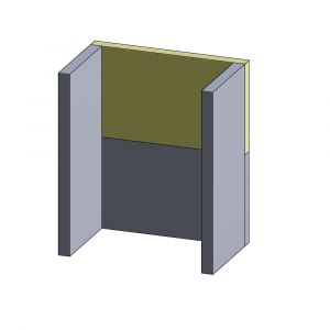 Rückwandstein oben/unten 410x240x30mm (Vermiculite)
