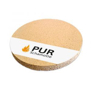 Pizzastein Grill Schamotte rund Ø 390x30mm | Detailansicht | PUR Schamotte | Schamotte-Shop.de
