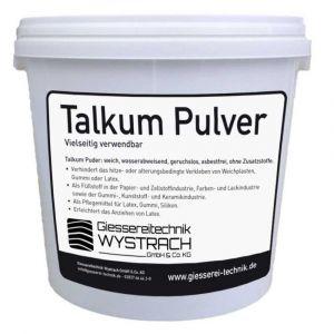 Talkum Pulver 5kg | Rohstoffe | Giessereitechnik Wystrach | Schamotte-Shop.de
