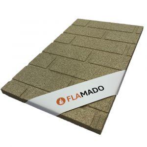 Vermiculite Platte Steinwand Optik| Brandschutzplatte | Flamado | Schamotte-Shop.de