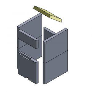 Heizgasumlenkplatte 225x226/200x30mm (Schamotte)