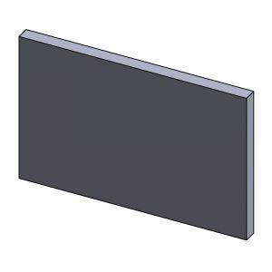 Heizgasumlenkplatte unten 420x270x30mm (Schamotte)