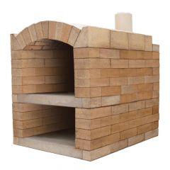 Pizzaofen Bausatz Rom Basic XXL Frontansicht | Gartenbackofen | PUR Schamotte | Schamotte-Shop.de