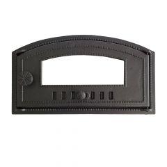 Ofentür Pizzaofen 48 x 27 cm schwarz | Backofentüre | PUR Schamotte | Schamotte-Shop.de