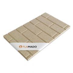Vermiculite Platte Steinwandoptik| Brandschutzplatte | Flamado | Schamotte-Shop.de