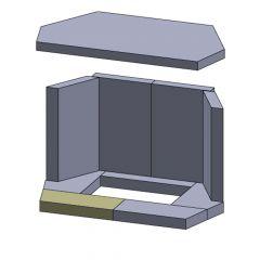 Bodenstein vorne links/rechts 235x95x30mm (Schamotte)