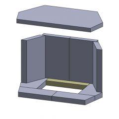 Bodenstein hinten 260x40x30mm (Schamotte)