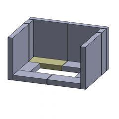 Bodenstein hinten/vorne links/rechts 200x90x30mm (Schamotte)