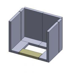 Bodenstein vorne 260x97x30mm (Schamotte)