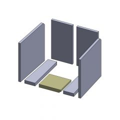Bodenstein vorne 203x183x30mm (Vermiculite)