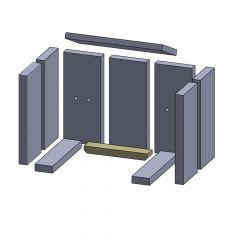 Bodenstein hinten 230 x 44 x 25 mm Brennraum Ersatzteil passend für Fireplace Capri, Flamado | schamotte-shop.de