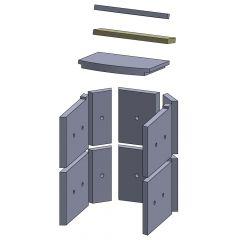 Heizgasumlenkplatte mitte 325 x 96 x 20 mm Deckenzugplatte Umlenkplatte passend für Fireplace Alicante, Flamado | schamotte-shop.de