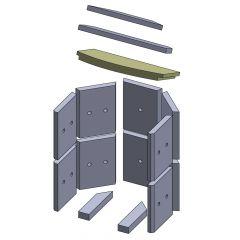 Heizgasumlenkplatte unten 403x235x30mm (Vermiculite)