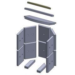 Heizgasumlenkplatte oben 352x91x20mm (Vermiculite)