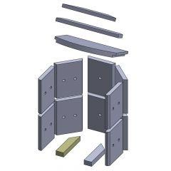 Bodenstein links/rechts 210x50x30mm (Vermiculite)
