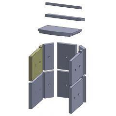 Wandstein vorne oben links 280x230x25mm (Vermiculite)