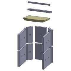 Heizgasumlenkplatte unten 310x270x30mm (Vermiculite)